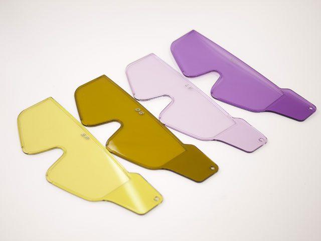 遮光眼鏡カラー見本4色東海光学